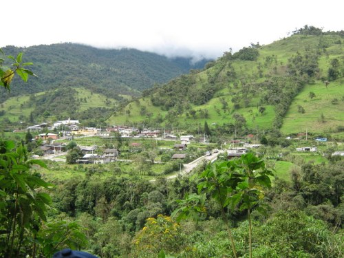 The edge of the Ecuadorian Andes