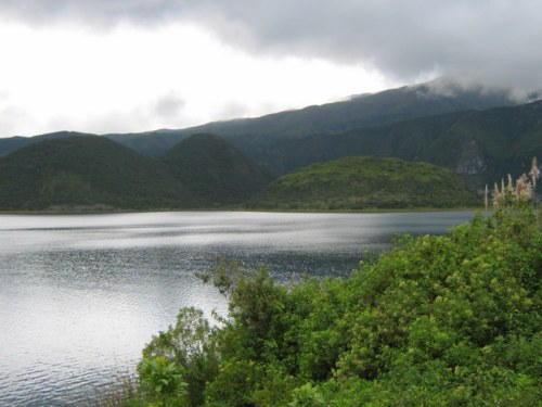 Cuicocha - a large crater in northern Ecuador
