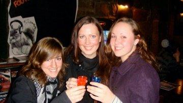Robyn, Silke and I at the Pub Crawl